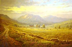 Highland Pastures by James Preston - Limited Edition on Paper sized 22x14 inches. Available from Whitewall Galleries